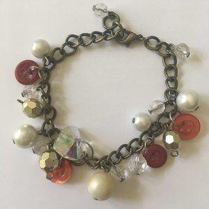 Button, Heart and Baubles Bracelet